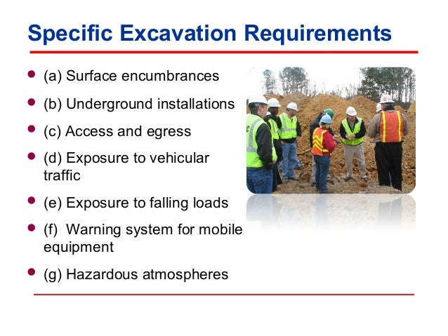 Osha Trenching And Excavation Requirements