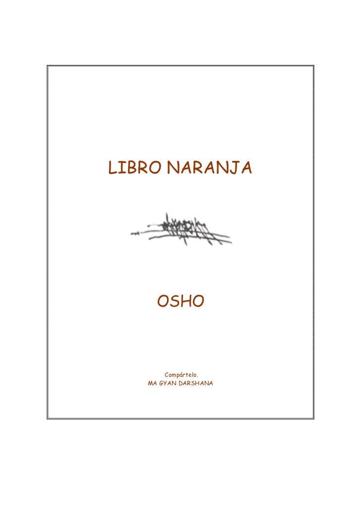 El libro naranja osho