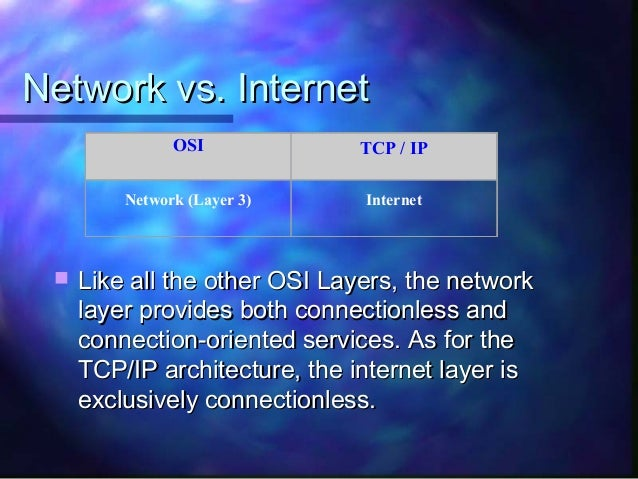 compare and contrast tcp ip and osi The transmission control protocol/internet protocol (tcp/ip) suite was created  by the  let's start by comparing tcp/ip and the osi models.