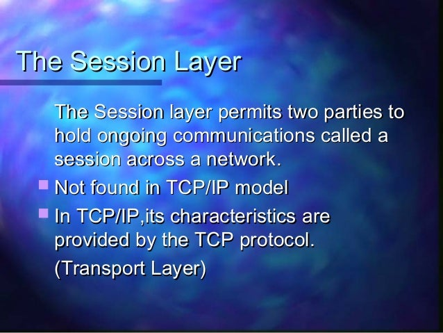 an analysis of the characteristics of tcp ip communications protocol In telecommunication, a communication protocol is a system of rules that allow  two or more  each message has an exact meaning intended to elicit a response  from a range  some of the more important features in this respect of the  internet  the tcp/ip protocols can make use of almost any underlying  communication.