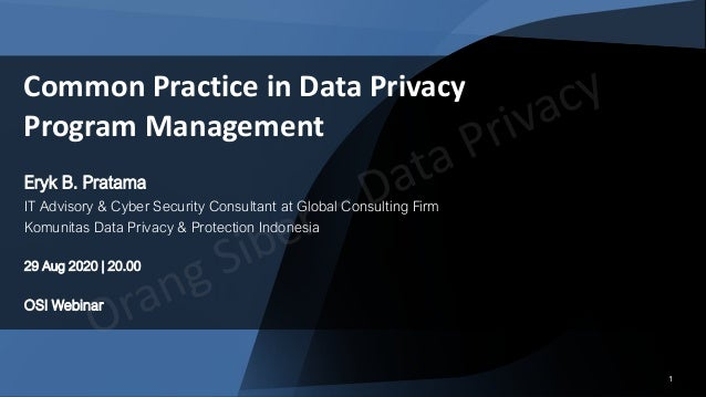 11 Eryk B. Pratama IT Advisory & Cyber Security Consultant at Global Consulting Firm Komunitas Data Privacy & Protection I...