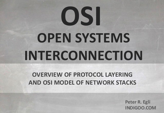 © Peter R. Egli 2015 1/8 Rev. 3.70 OSI - Open Systems Interconnection indigoo.com Peter R. Egli INDIGOO.COM OVERVIEW OF PR...