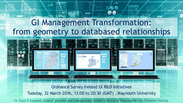 GI Management Transformation: from geometry to databased relationships Ordnance Survey Ireland GI R&D Initiatives Tuesday,...