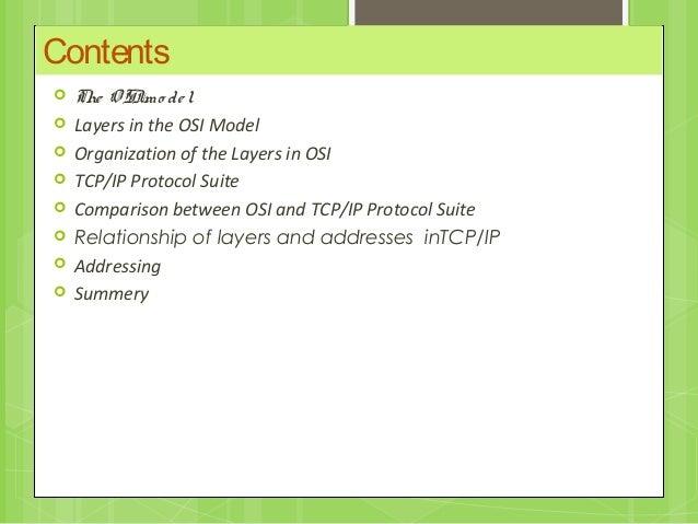 Osi , tcp/ip protocol and Addressing  Slide 2