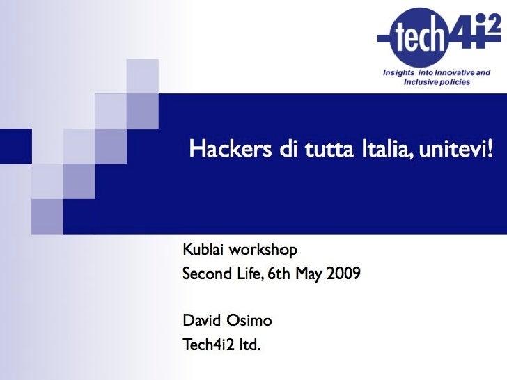 David Osimo - Hacking the state: il futuro dell'e-government (anche) in Italia