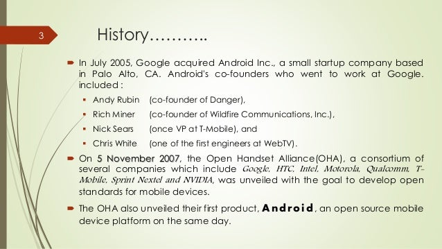 OS in mobile devices [Android] Slide 3