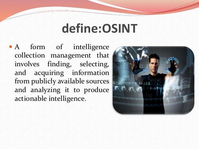 Open Source Intelligence (OSINT) with Maltego Slide 2