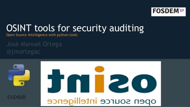 OSINT tools for security auditing [FOSDEM edition]