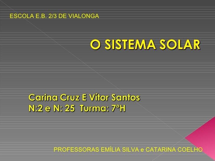 ESCOLA E.B. 2/3 DE VIALONGA PROFESSORAS EMÍLIA SILVA e CATARINA COELHO