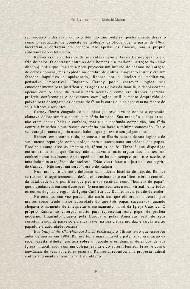 unidade cristã, disse ele, era necessário parar com toda a insistência na in -  falibilidade papal como dogma, e também ac...