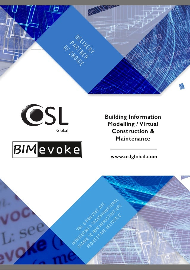 """OSL & BIMevoke are introducing a transformational change to how infrastructure projects are delivered"" www.oslglobal.com ..."