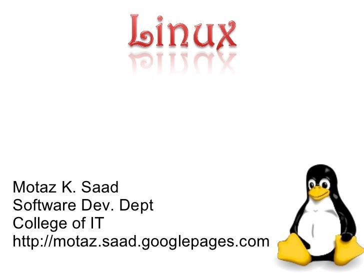 Motaz K. Saad Faculty of IT http://sites.google.com/site/MotazSite/