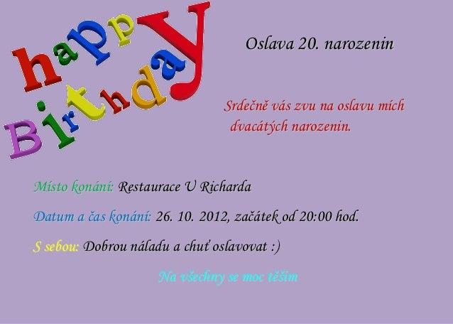 oslava 20 narozenin Oslava 20 oslava 20 narozenin