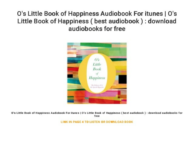 O's Little Book of Happiness Audiobook For itunes | O's Little Book o…