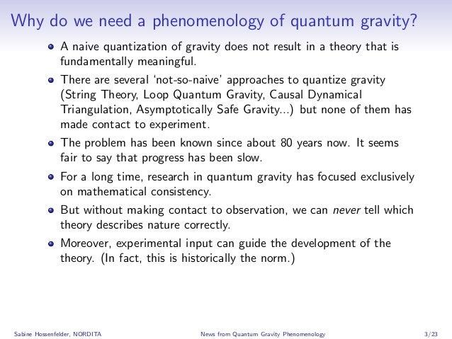 News from Quantum Gravity Phenomenology Slide 3