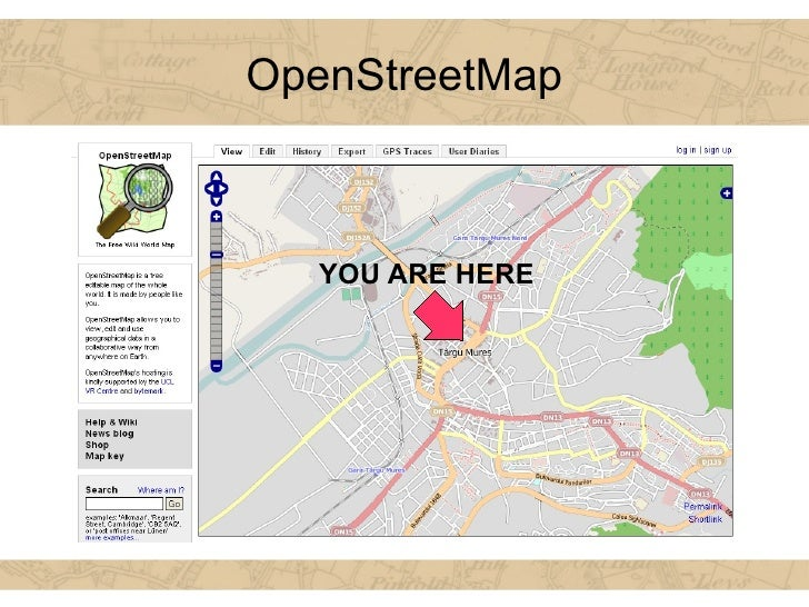OpenStreetMap YOU ARE HERE