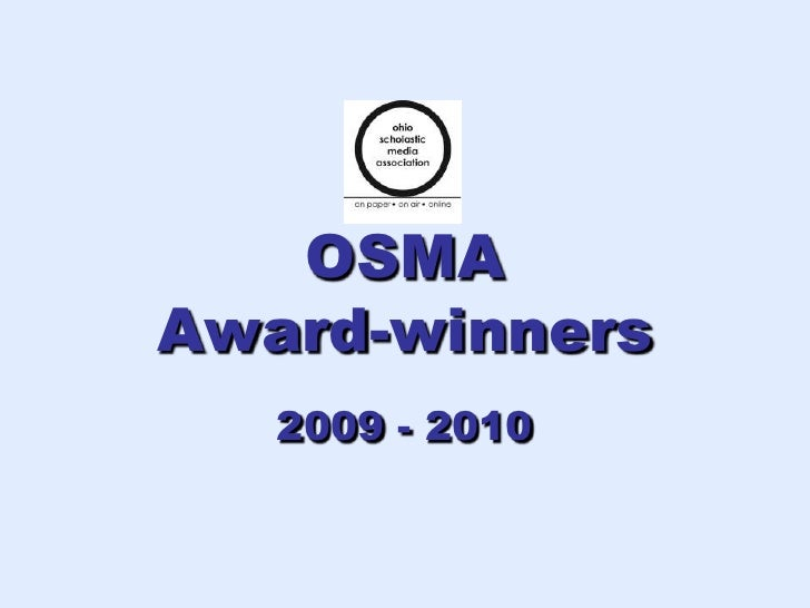 OSMA Day-of Awards April 10, 2010