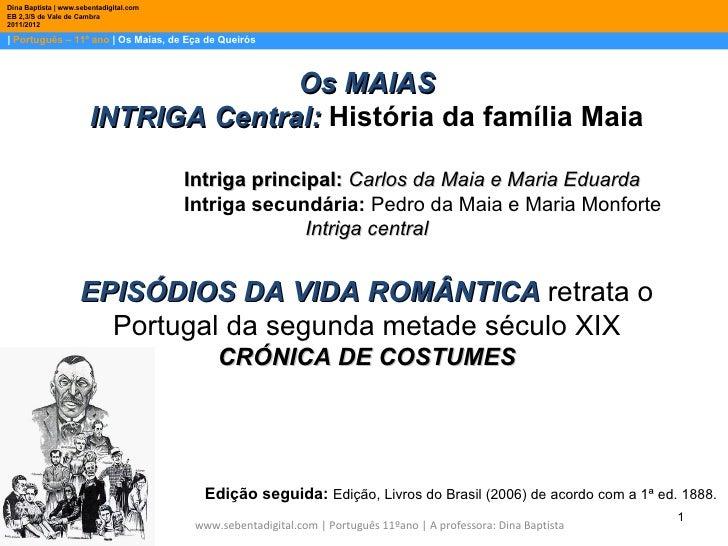 Dina Baptista | www.sebentadigital.comEB 2,3/S de Vale de Cambra2011/2012| Português – 11º ano | Os Maias, de Eça de Queir...