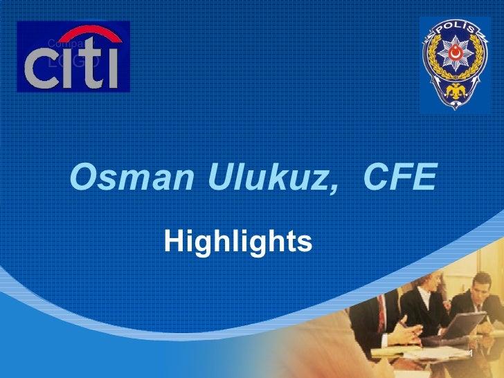 Osman   Ulukuz,   CFE Highlights