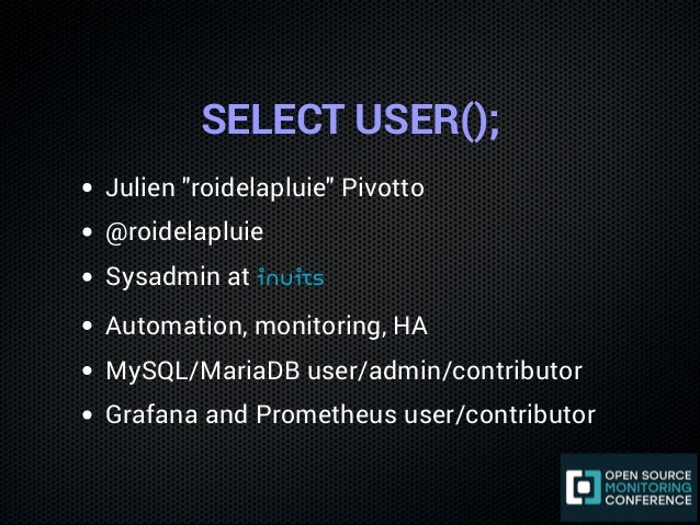 Monitoring MySQL with Prometheus and Grafana Slide 2