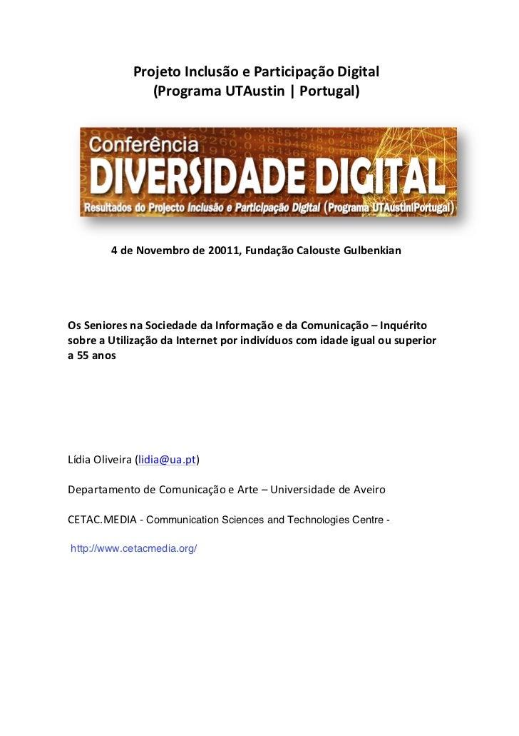 Projeto Inclusão e Participação Digital                         (Programa UTAustin   Portugal)        ...