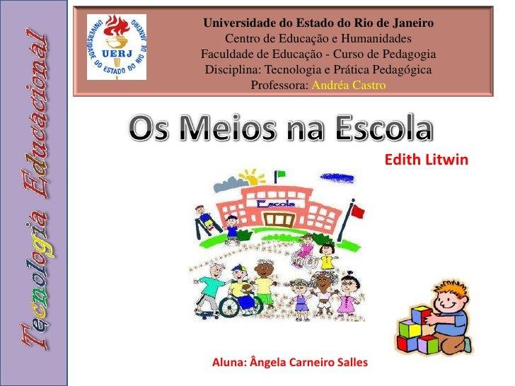 Universidade do Estado do Rio de JaneiroCentro de Educação e HumanidadesFaculdade de Educação - Curso de PedagogiaDiscipli...