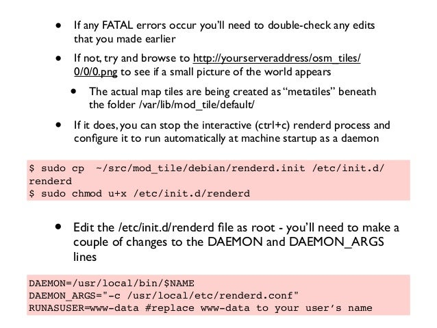 • If any FATAL errors occur you'll need to double-check any edits that you made earlier • If not, try and browse to http:/...