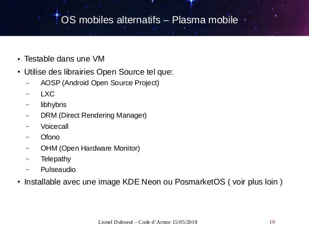 OS mobiles alternatifs