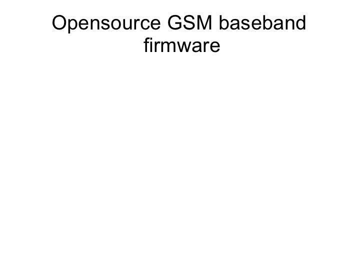 Opensource GSM baseband        firmware