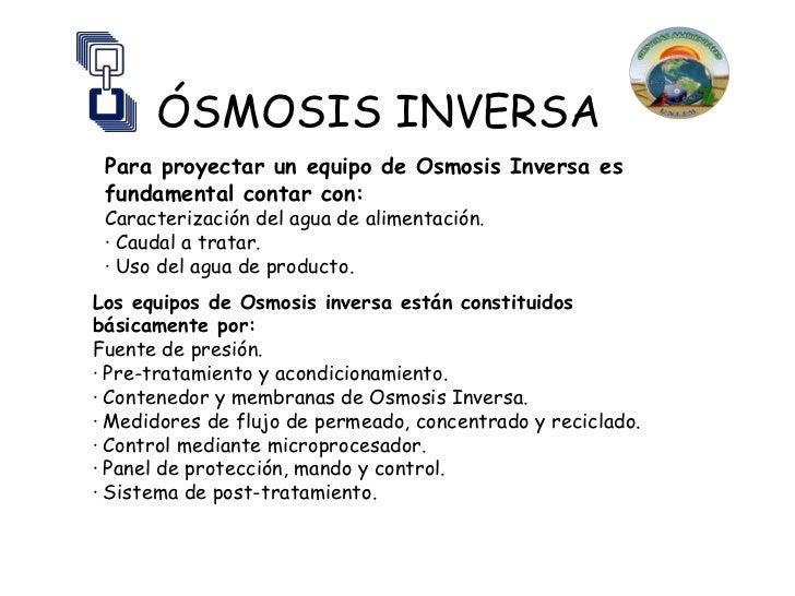 Smosis inversa - Aparatos de osmosis ...
