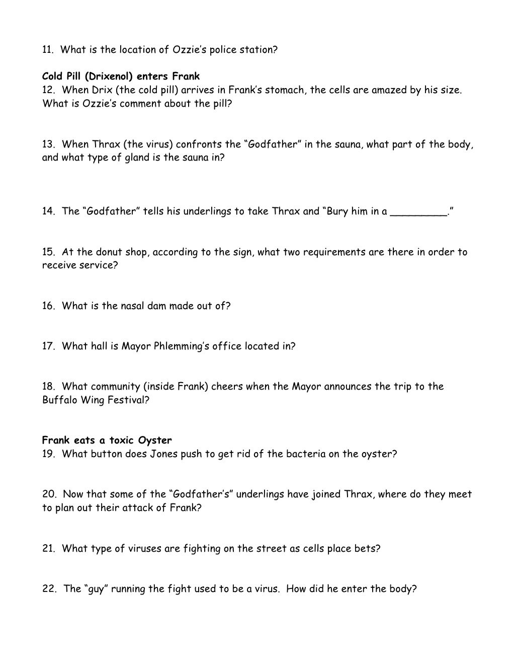 Uncategorized Osmosis Jones Worksheet worksheet osmosis jones answers luizah and vintagegrn jones