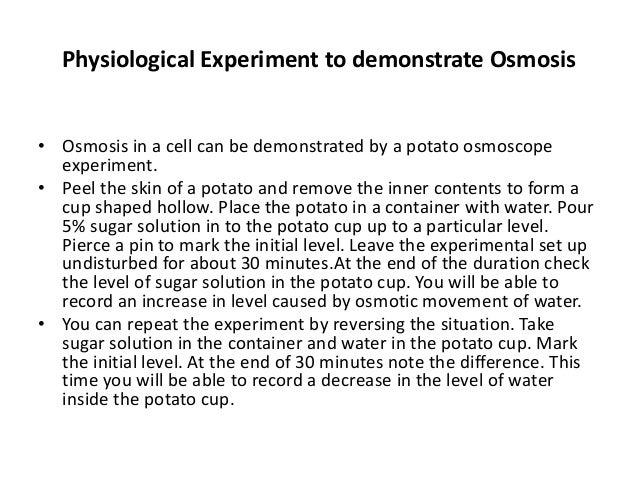 Osmosis N Diffusion