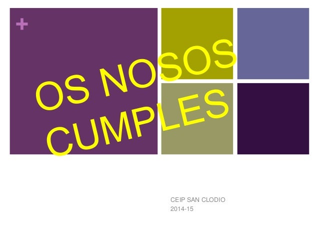 + CEIP SAN CLODIO 2014-15
