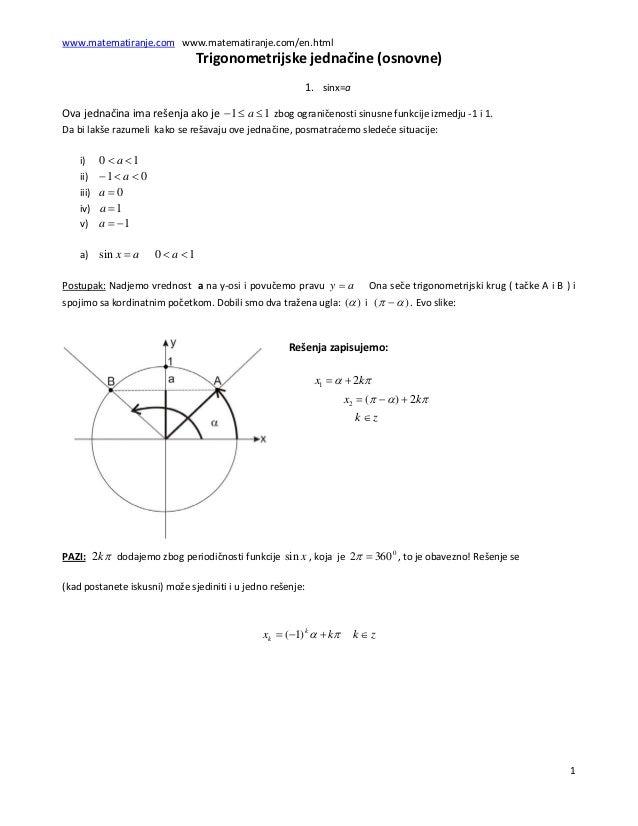 www.matematiranje.comwww.matematiranje.com/en.html                                            Trigonometrijskejednači...