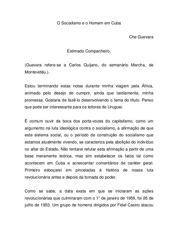 O Socialismo e o Homem em Cuba                                                              Che Guevara                   ...