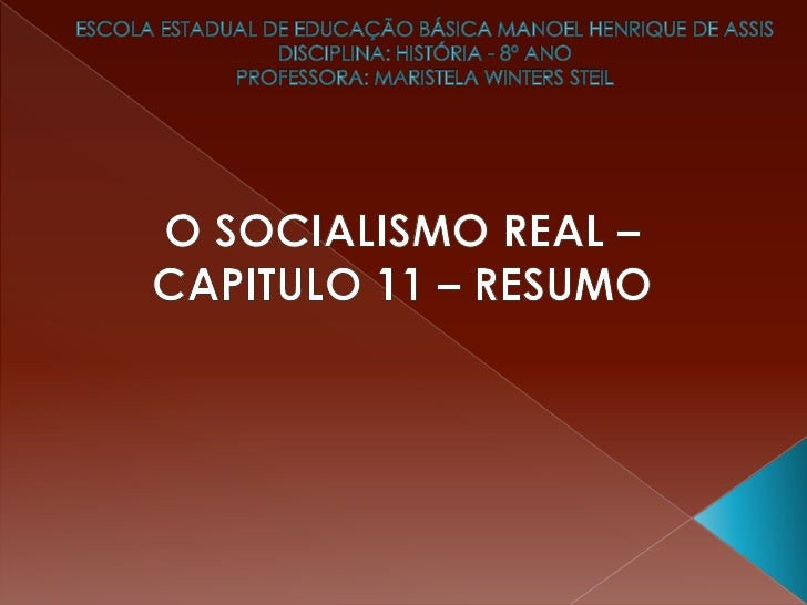 O socialismo na asia   cap. 11