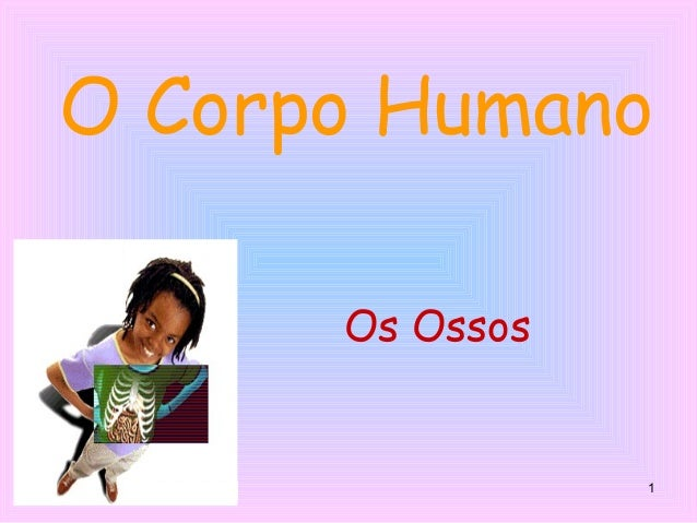 1 O Corpo Humano Os Ossos