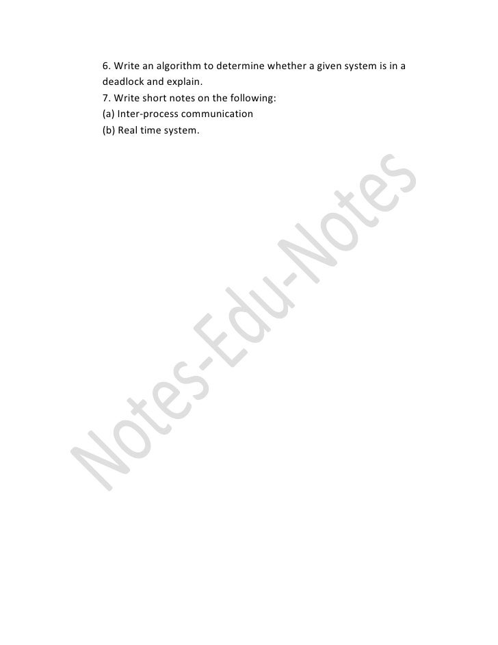 operating system paper Find knec introduction to computers and principles of operating systems previous year question paper feel free to use the past paper as you prepare for your upcoming examinations - 47.