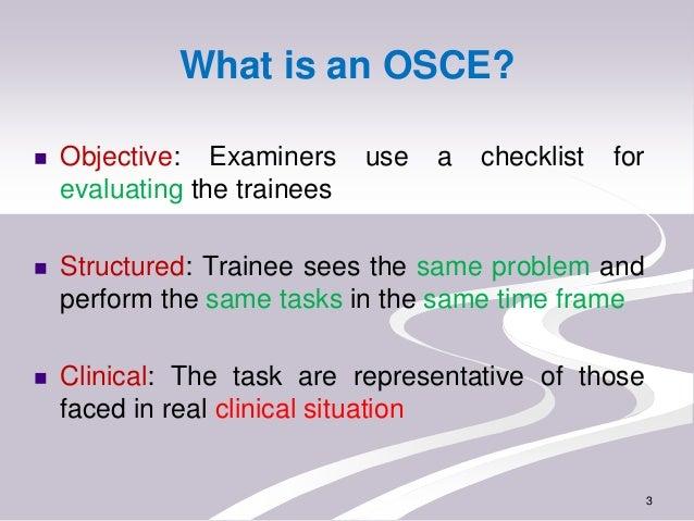 OSPE/ OSCE Slide 3