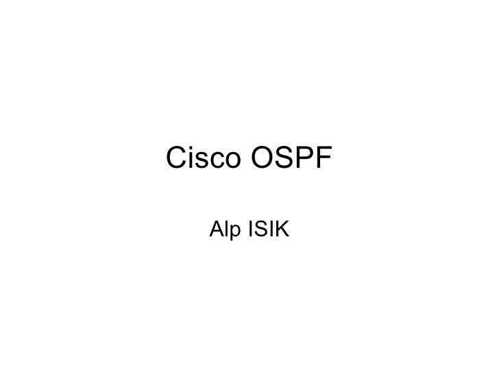Ospf Cisco