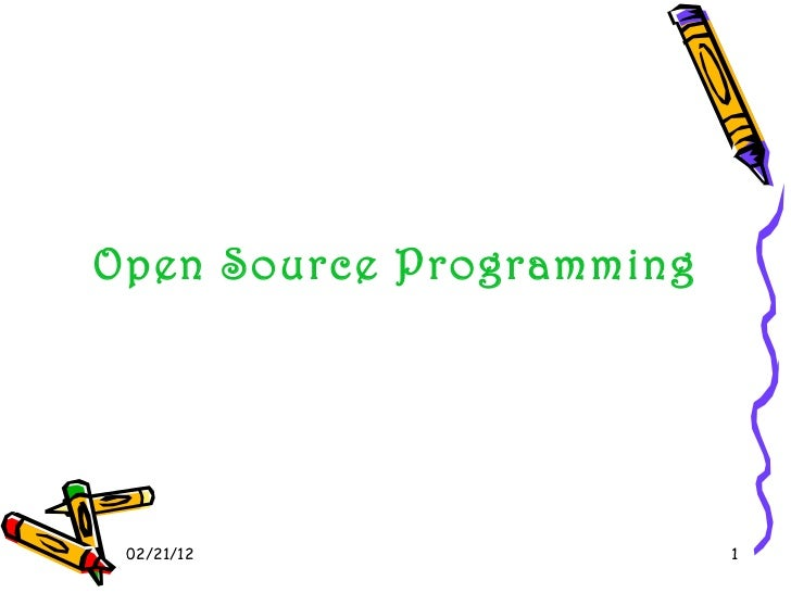 02/21/12 Open Source Programming