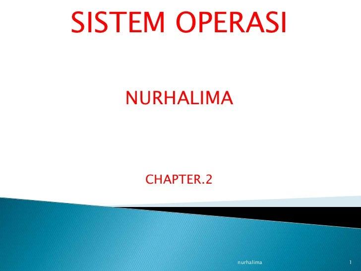 SISTEM OPERASI   NURHALIMA    CHAPTER.2                nurhalima   1