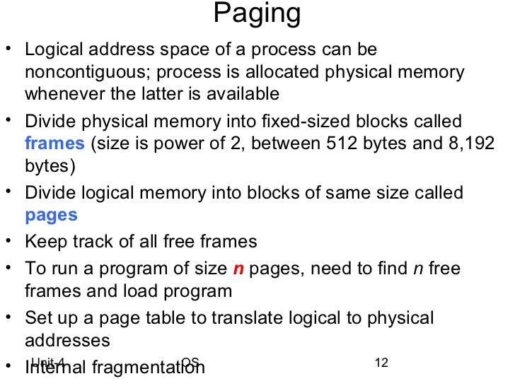 virtual memory in os pdf