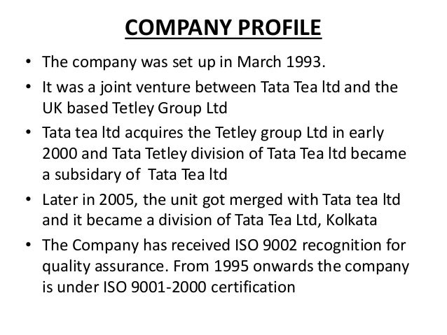 tata tea analysis The leveraged buy out deal of tata & tetley - tata tea tetley, the case 'the leveraged buyout deal of tata & tetley' provides insights.
