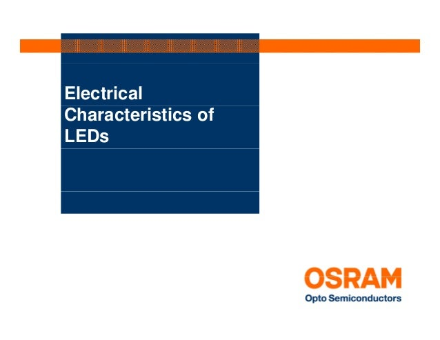 ElectricalCharacteristics ofLEDs