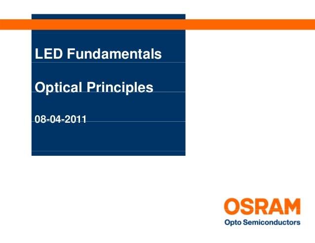 LED FundamentalsOptical Principles08 04 201108-04-2011