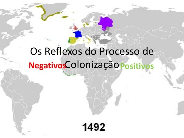 Os Reflexos do Processo deNegativosColonização Positivos