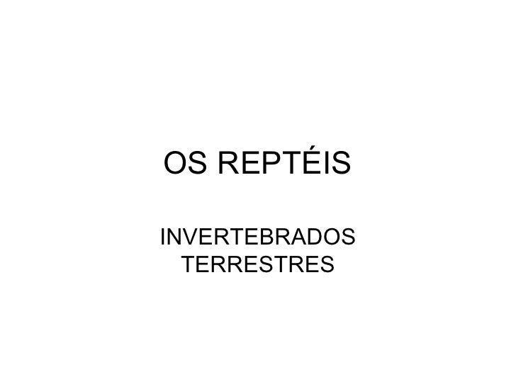 OS REPTÉIS INVERTEBRADOS TERRESTRES