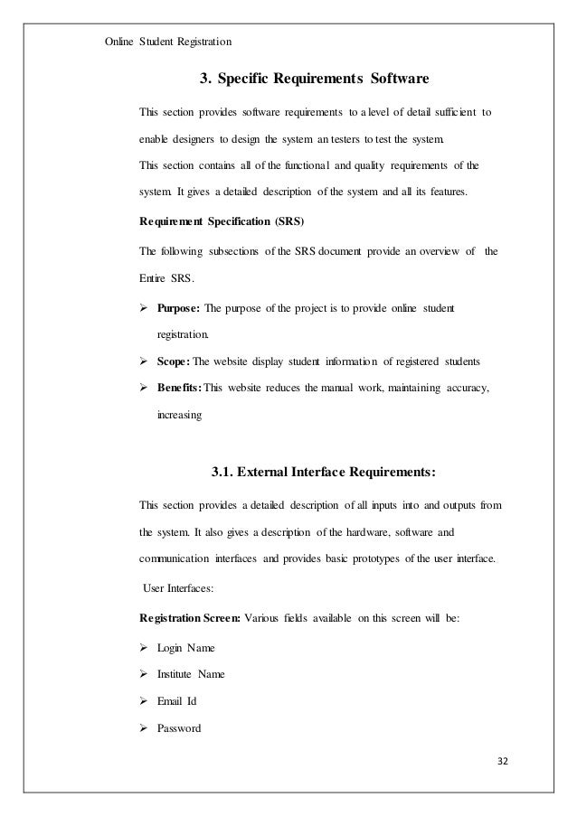student registration system documentation pdf