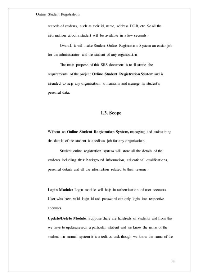 computerized registration system thesis